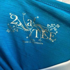 2 a Tee- NWT Blue shirt- PXL
